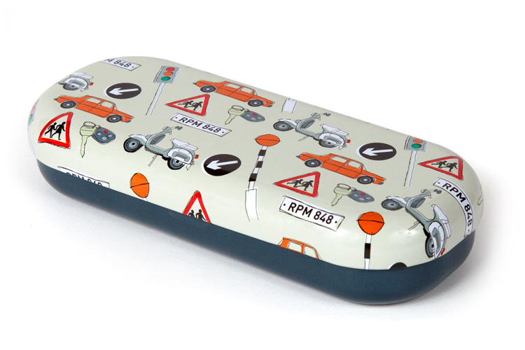 Driving glasses case top