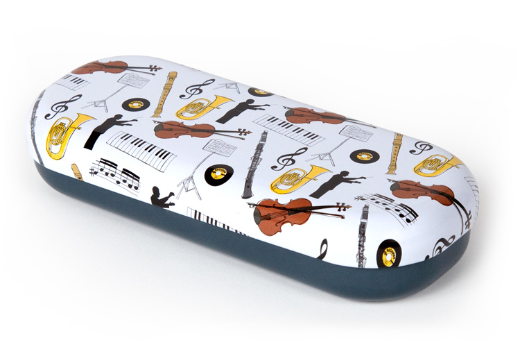 Music glasses case top