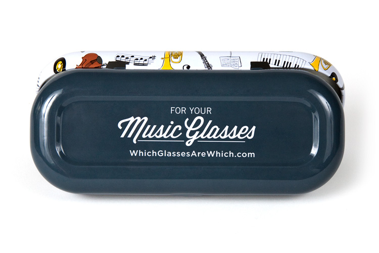 Music glasses case bottom